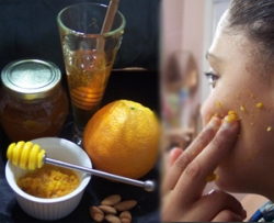 Orange Almond Honey Face Scrub